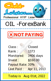 gold-lister.com - hyip oil forex bank