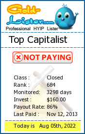 gold-lister.com - hyip top capitalist