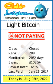 gold-lister.com - hyip light bitcoin