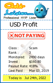 USD Profit Monitoring details on gold-lister.com