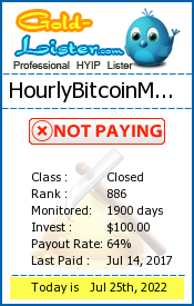 HourlyBitcoinMining Monitoring details on gold-lister.com