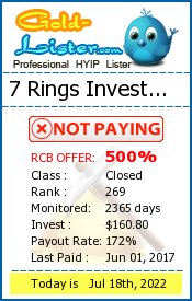 7 Rings Investment Monitoring details on gold-lister.com