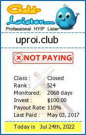 uproi.club Monitoring details on gold-lister.com