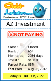 AZ Investment Monitoring details on gold-lister.com