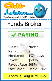 Funds Broker Monitoring details on gold-lister.com