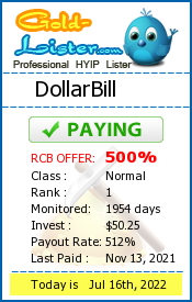 DollarBill Monitoring details on gold-lister.com