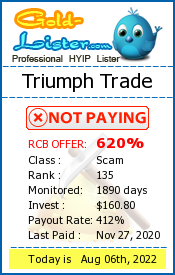 Triumph Trade Monitoring details on gold-lister.com