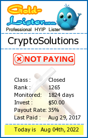 CryptoSolutions Monitoring details on gold-lister.com