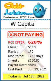 W Capital Monitoring details on gold-lister.com