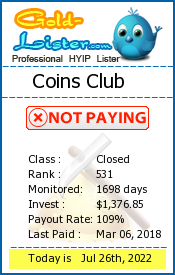 Coins Club Monitoring details on gold-lister.com
