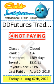 DDFutures Trading Limited Monitoring details on gold-lister.com