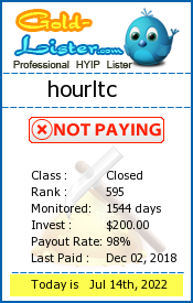 hourltc Monitoring details on gold-lister.com