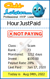 HourJustPaid Monitoring details on gold-lister.com