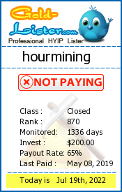 hourmining Monitoring details on gold-lister.com