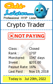 Crypto Trader Monitoring details on gold-lister.com