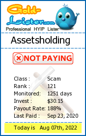 Assetsholding Monitoring details on gold-lister.com