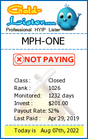 MPH-ONE Monitoring details on gold-lister.com