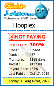 Hooplex Monitoring details on gold-lister.com