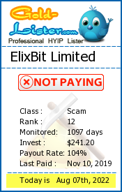 ElixBit Limited Monitoring details on gold-lister.com