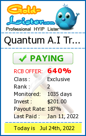 Quantum A.I Trade Monitoring details on gold-lister.com