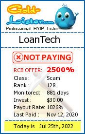 LoanTech Monitoring details on gold-lister.com