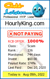 HourlyKing.com Monitoring details on gold-lister.com
