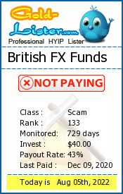 British FX Funds Monitoring details on gold-lister.com