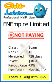 FNEmpire Limited Monitoring details on gold-lister.com