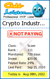 Crypto Industry Ltd Monitoring details on gold-lister.com