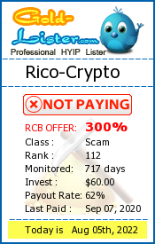 Rico-Crypto Monitoring details on gold-lister.com