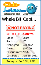 Whale Bit Capital Limited Monitoring details on gold-lister.com