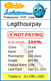 Legithourpay Monitoring details on gold-lister.com