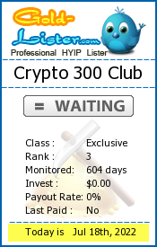 Crypto 300 Club Monitoring details on gold-lister.com