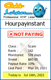 Hourpayinstant Monitoring details on gold-lister.com