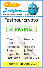 Fasthourcrypto Monitoring details on gold-lister.com