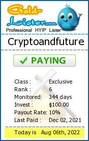 Cryptoandfuture Monitoring details on gold-lister.com