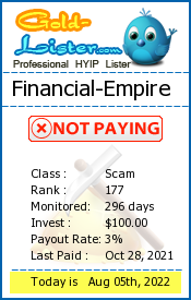 Financial-Empire Monitoring details on gold-lister.com